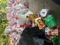 Mercy Bags of food that families get once a month