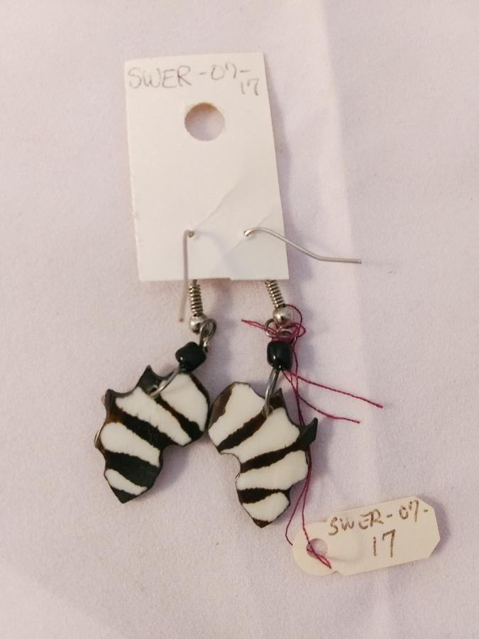 Eswantini Bone African Continent Earrings