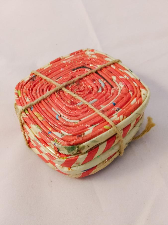 Dominican Republic Recycled Paper Coaster Set