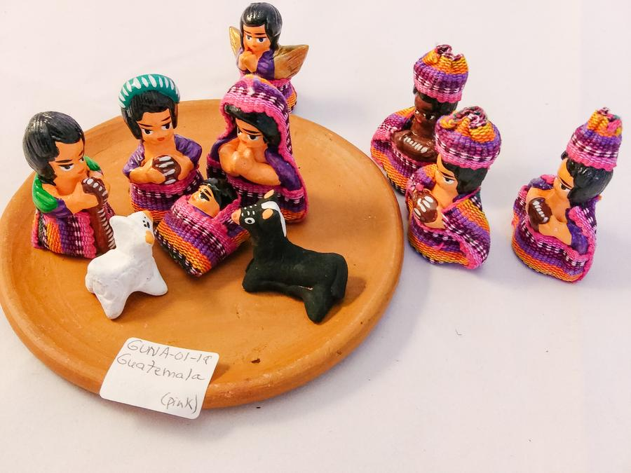 Guatemala Ceramic Nativity Set