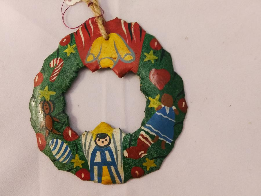 Haiti Metal Christmas Wreath Ornament