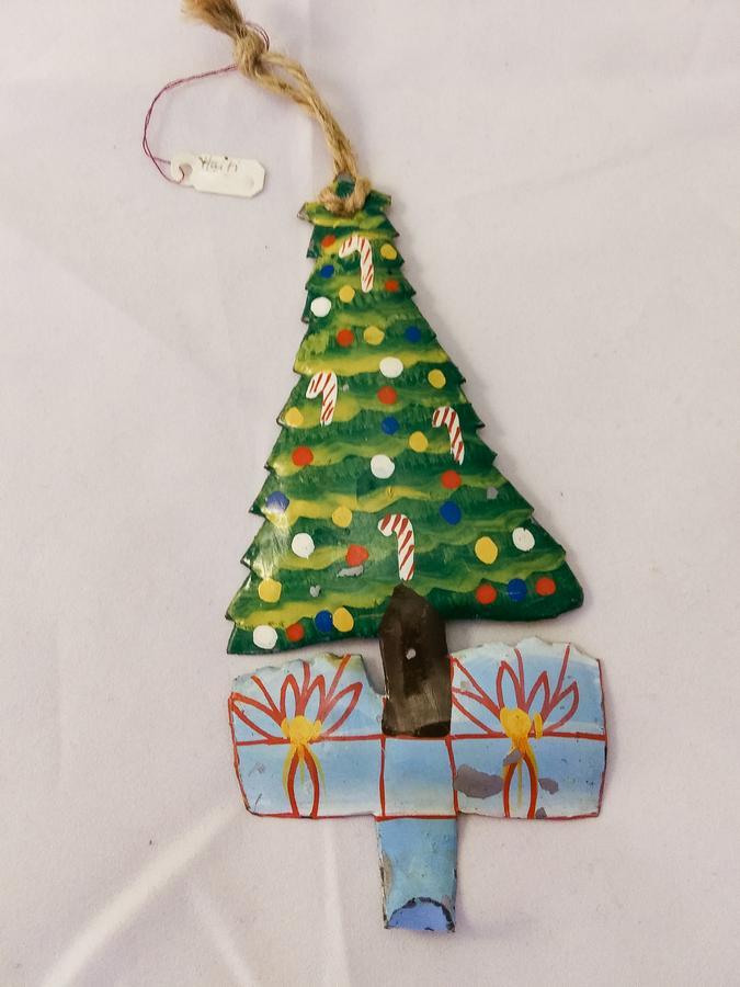 Haiti Metal Christmas Tree Ornament