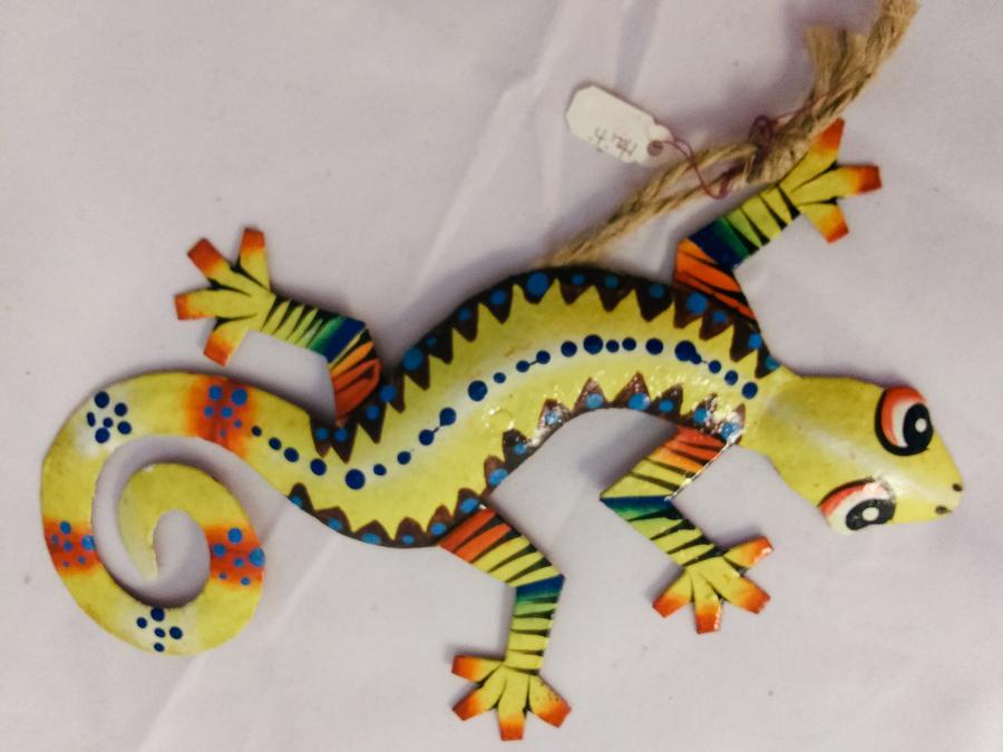 Haiti Metal Gecko Ornament