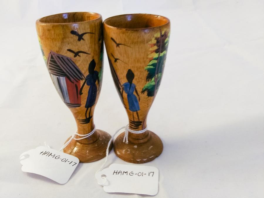 Haiti Mini Wooden Hand-Painted Goblets