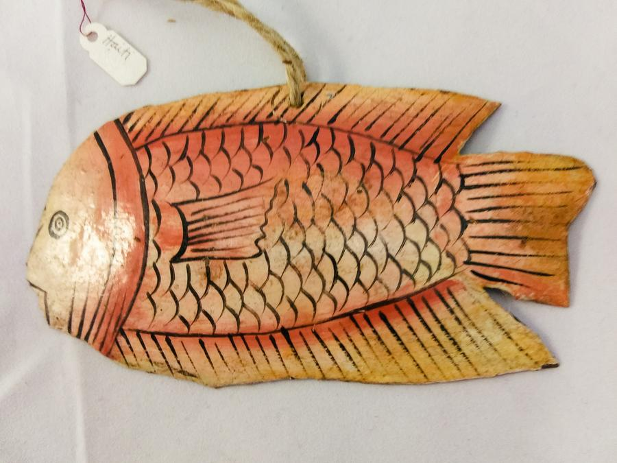 Haiti Small Metal Fish Ornament
