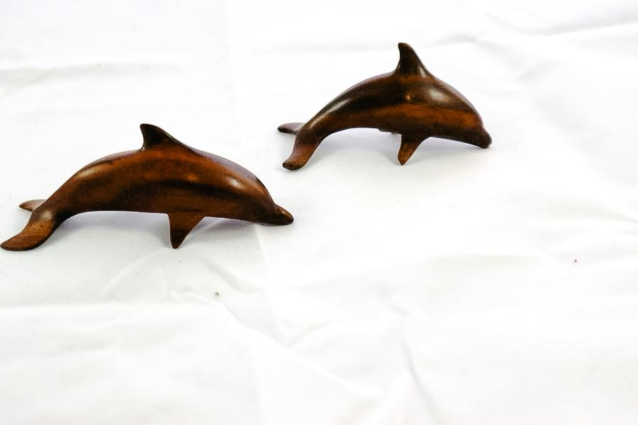 Indonesia Carved Wooden Dolphin