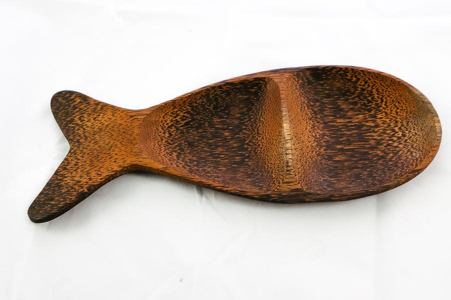 Indonesia Wooden Fish-Shaped Platter