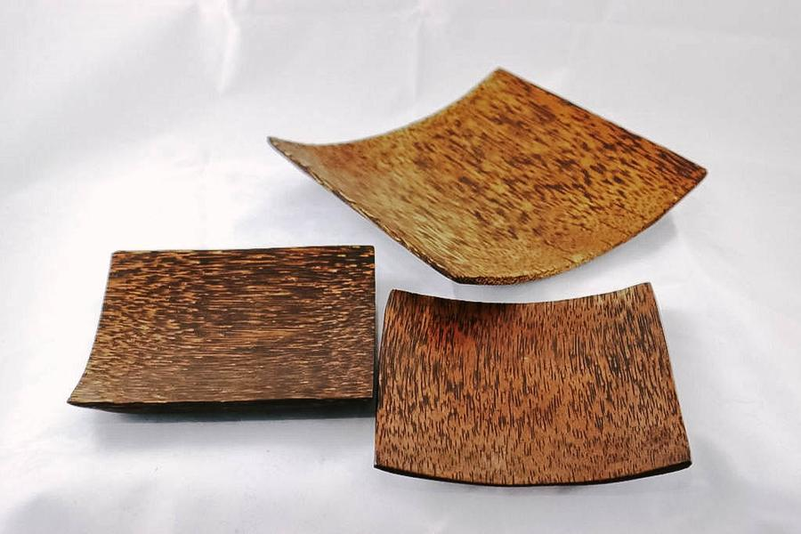 Indonesia Small Square Wooden Plates