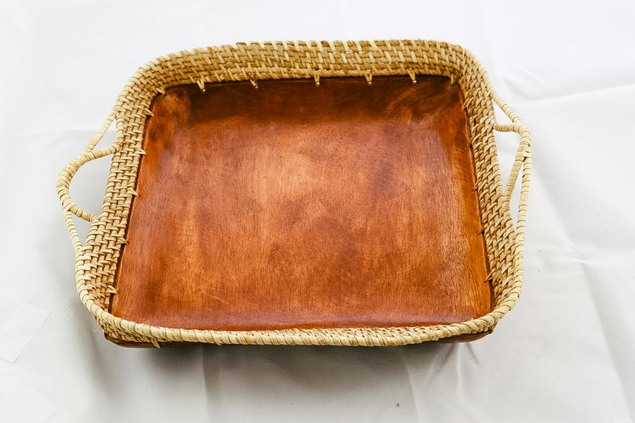 Philippines Wooden Square Tray