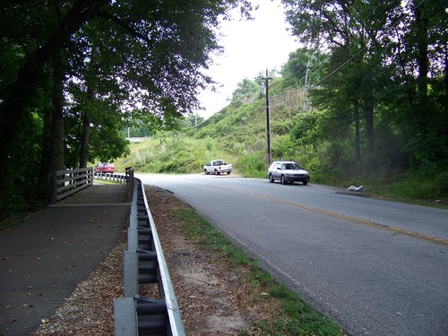 parking area as viewed from Swamp Rabbit Trail across the street (Credit: Upstate Forever)