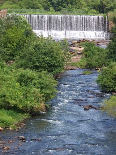 Conestee Dam as viewed from Conestee Road bridge (Credit: Upstate Forever)