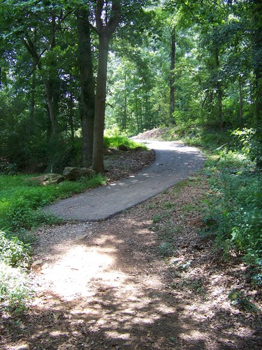 portage trail around Cedar Falls Dam (Credit: Upstate Forever)