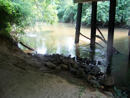 underneath Dunklin Bridge Road bridge (Credit: Upstate Forever)