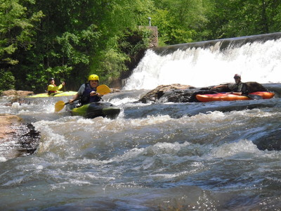 rapids just below Easley Central Dam (Credit: Upstate Forever)