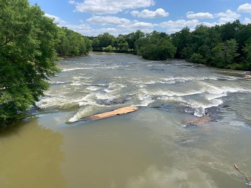 Rutledge shoals below Erwin Mill Bridge Road at about 1300cfs.