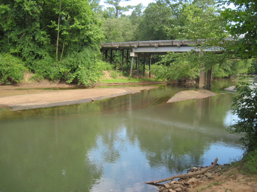 Looking at Brazelman's Bridge from the landing (Credit: Upstate Forever)