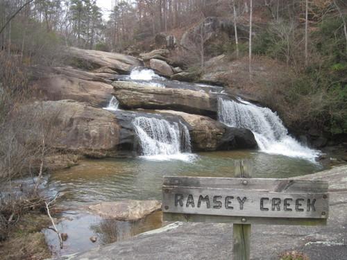Ramsay Creek meets the Chauga River at Chau Ram Park