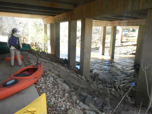 underneath the Mauldin Road bridge (Credit: Upstate Forever)