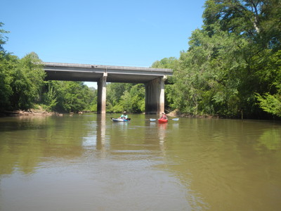 approaching the Highway 25 bridge, just below the Beacham Road access (Credit: Upstate Forever)