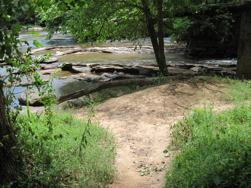 Horseshoe Falls Access Area at Musgrove Mill (Credit: Upstate Forever)