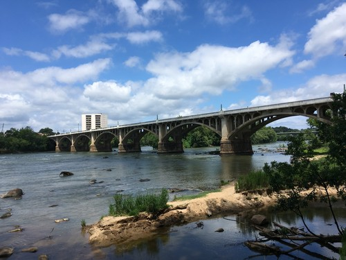 Gervais St Bridge, take-out available on each side of river. (Credit: Tanner Arrington)
