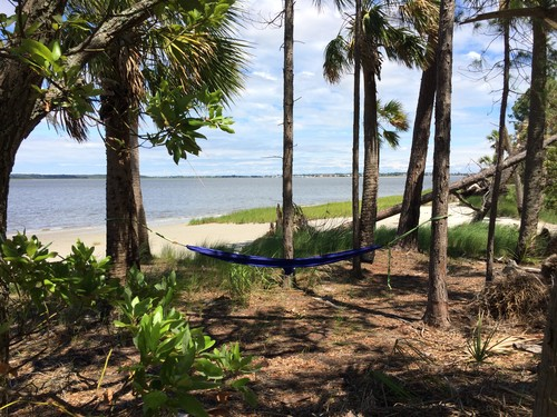Hammocking on a hammock. (Credit: Tanner Arrington)