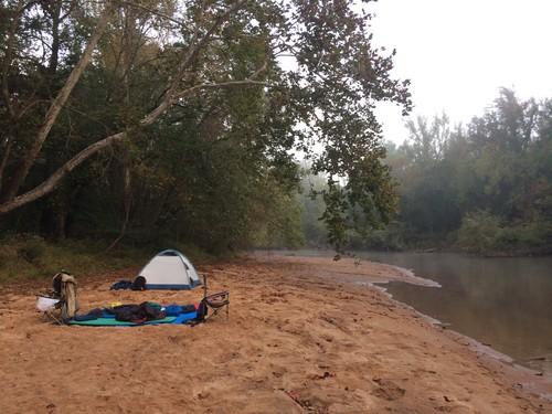 Sand bar camping on Enoree River - 180 cfs (Credit: Tanner Arrington)