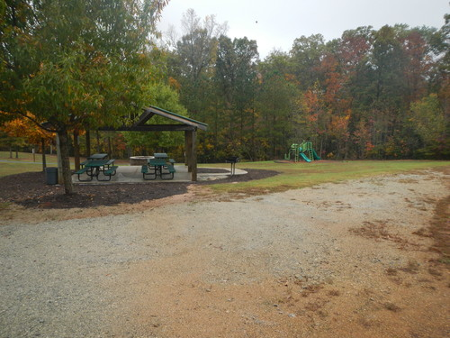 playground and parking area at Karl H. Dixon Memorial Park (Credit: Upstate Forever)