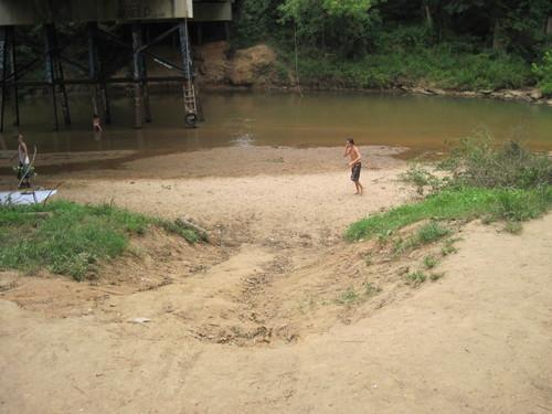 small beach below Kilgore Bridge Road (Credit: Upstate Forever)