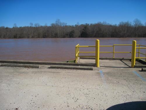Parking Area below Lockhart Dam #1 (Credit: Upstate Forever)