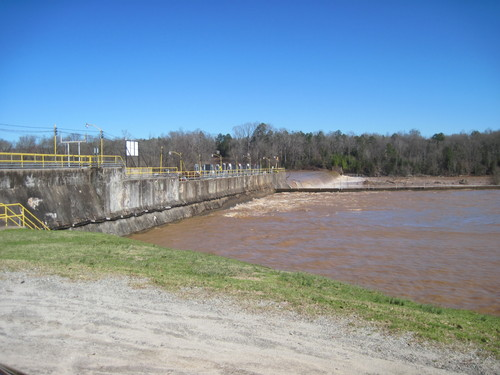 Looking at Lockhart Dam #1 from below the Take Out (Credit: Upstate Forever)