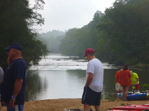 view downstream Pacolet River from Clifton Beach (Credit: Upstate Forever)