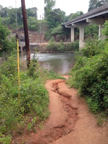 trail leading down to Saluda River below Saluda Dam (Credit: Upstate Forever)