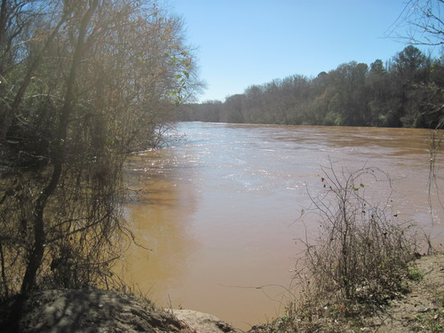 Sandy River meets the Broad River (Credit: Upstate Forever)