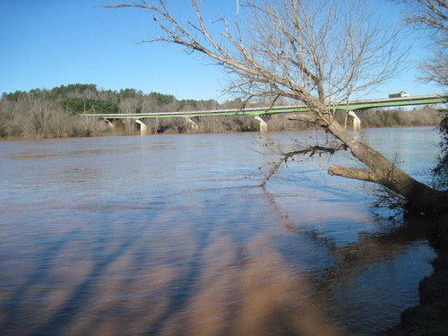 Looking at Highway 34 from Strother Landing on Broad River (Credit: Upstate Forever)