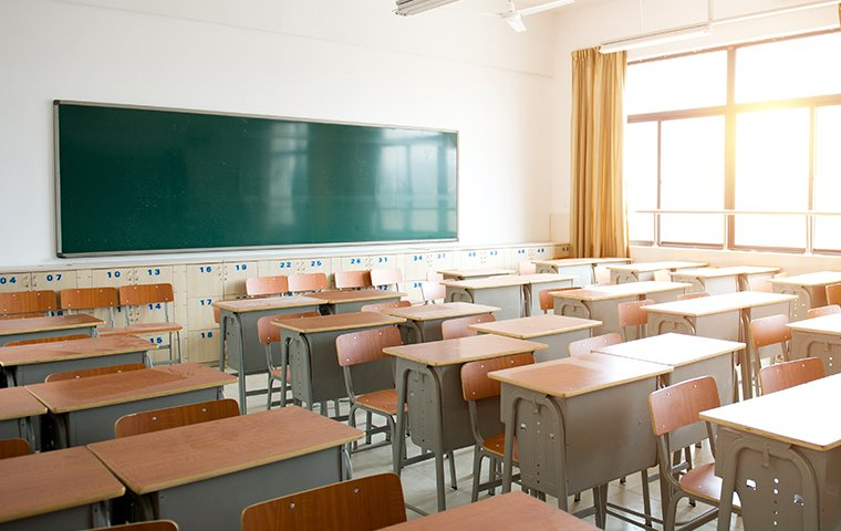 interior of an empty school room