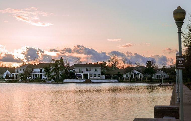 water view of houses in elk grove california
