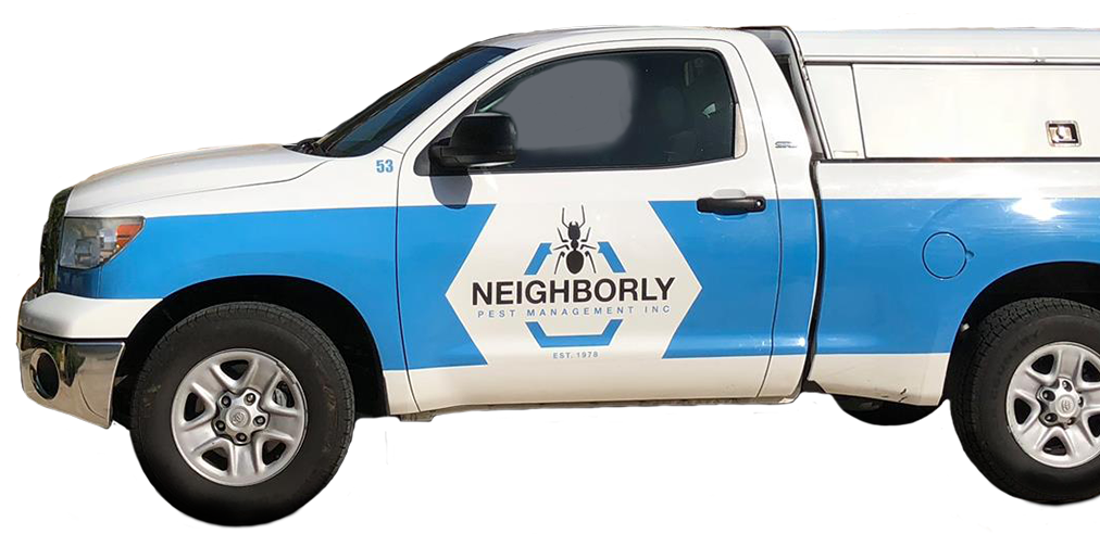 a neighborly pest management service vehicle