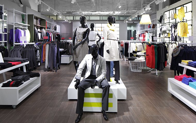 interior of a clothing store