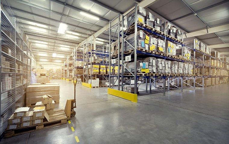 interior of a fully stocked warehouse