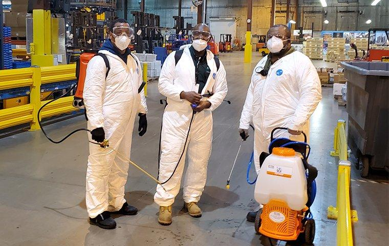pestmaster chicago team in a commercial building