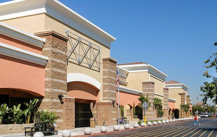 a row of commercial buildings in eastvale california