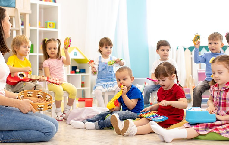 children inside of a daycare center in murrieta california