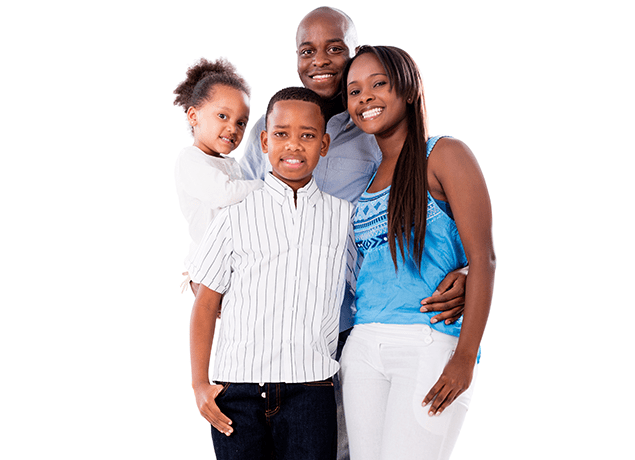 a happy family of four in murrieta california