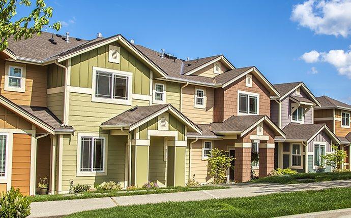 a row of multi unit housing in duvall washington