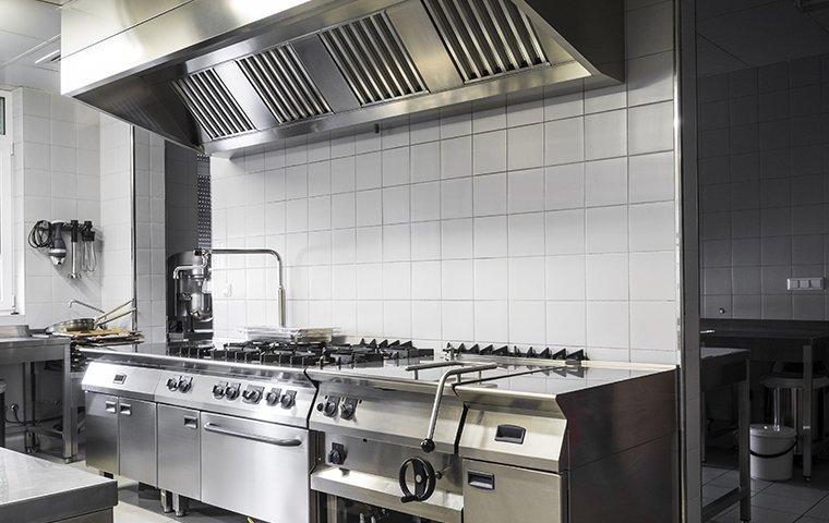 interior of an industrial kitchen in washington dc