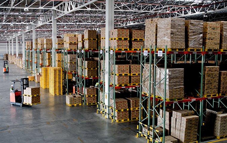 interior of a stocked warehouse in washington dc