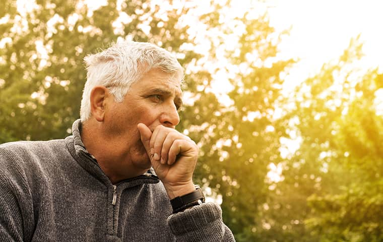 a man coughing outside in fairfield new jersey