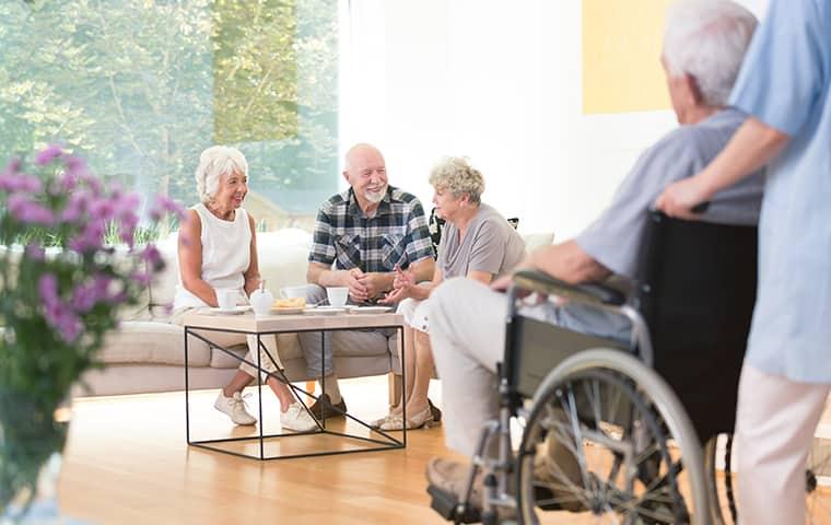 residents inside a nursing home in kinnelon new jersey
