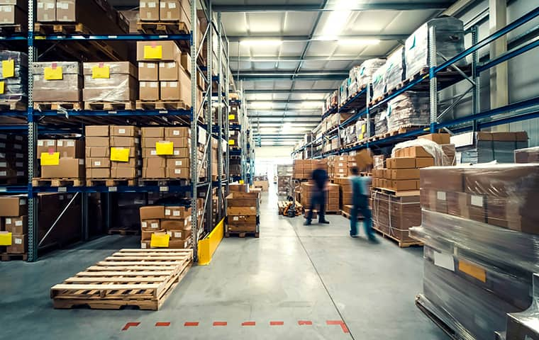 interior view of a commercial warehouse in mahwah new jersey